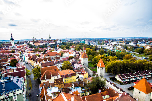 Wall mural View over the Tallinn from the height