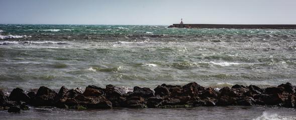 Mazara, Küstenort im Süden von Sizilien im Sommer © andiz275