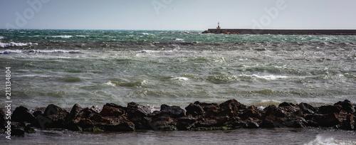 Obraz na płótnie Mazara, Küstenort im Süden von Sizilien im Sommer