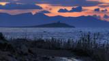 romantische Küste von Sizilien bei Sonnenuntergang - 213138681