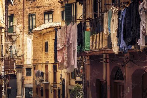 Fototapeta Regentage in Palermo auf Sizilien im Frühjahr in Italien