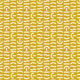 Geometric vector seamless pattern. Different shapes of thick lines. Hipster fashion Memphis style. - 213145803