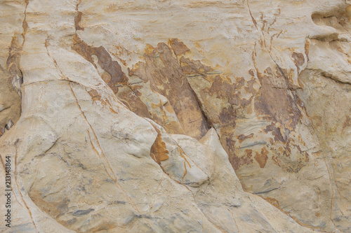 Fotobehang Stenen Rock wall texture, sand rock.