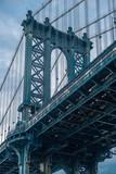 Closeup of Manhattan bridge tower