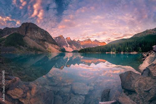 In de dag Canada The Sunrise hour at Banff