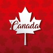happy canada day card red leave maples background vector illustration