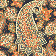 Seamless Asian Textile Background. Paisley Pattern - 213169208