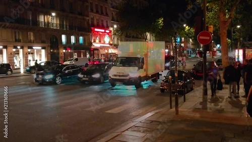 Fridge magnet Timelapse of saint germain street by night 4K
