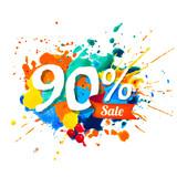 90 percents sale. Splash paint - 213171052