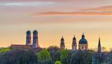 Munich Frauenkirche during beautiful sunset in summer - 213179067