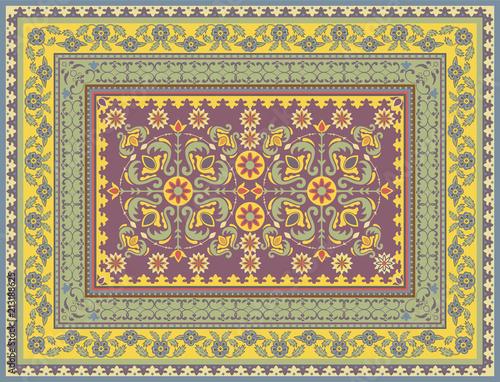 Traditional floral carpet design