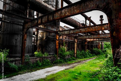Fotobehang Oude verlaten gebouwen Landschaftspark Duisburg Lostplace