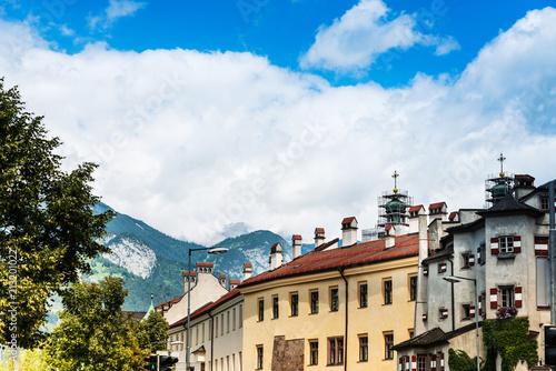 Street view of downtown in Innsbruck, Austria