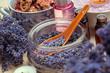 Leinwanddruck Bild - spoon of dry lavenders