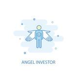 Angel investor line trendy icon. Simple line, colored illustration - 213205036
