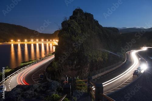 Canvas Nacht snelweg Le rocche de Macondé Ile Maurice