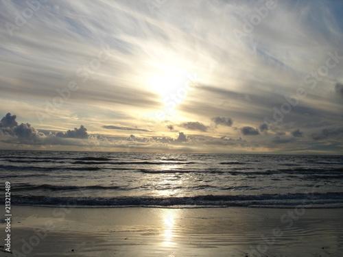 Fotobehang Noordzee Sonnenuntergang_026