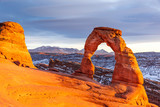 Delicate Arch sunset, Arches National Park, Utah - 213213060