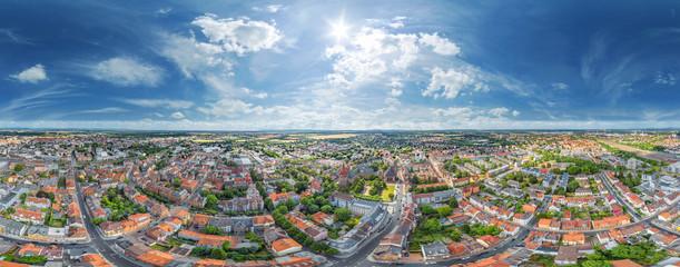 360° Stadt Luftbild Panorama Worms am Rhein