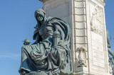 Detail of Queen Victoria statue in front of Hull City Hall - 213215812