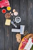 Ingredients of the production of cured sausage. - 213218278
