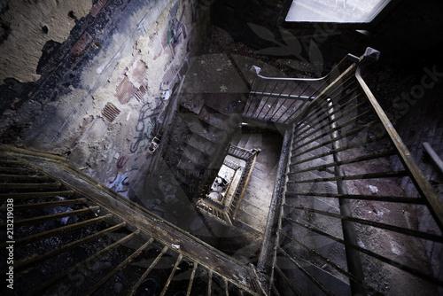 Foto Spatwand Oude verlaten gebouwen abandoned psychiatric hospital