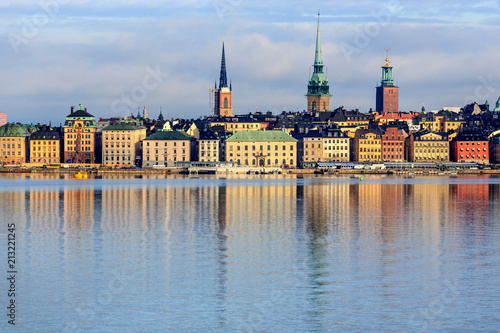 Summer morning in Stockholm Old Town, Gamla Stan, Sweden - 213221245