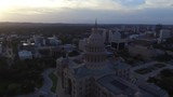 180 Pan of the Capital building in Austin, Texas during golden hour - 213221859