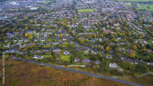 Obraz na płótnie Drone shot of Ilkley Moor