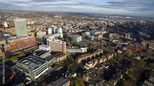 Poster Aerial View of Sheffield City Centre