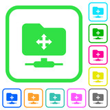 FTP move vivid colored flat icons - 213225291
