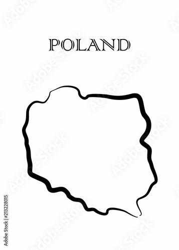 Fototapeta the Poland map
