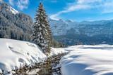 Snow landscape in Hohe Tauern austria - 213229430