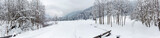 Panorama cross-country ski trail near Flachau, Austria - 213231493