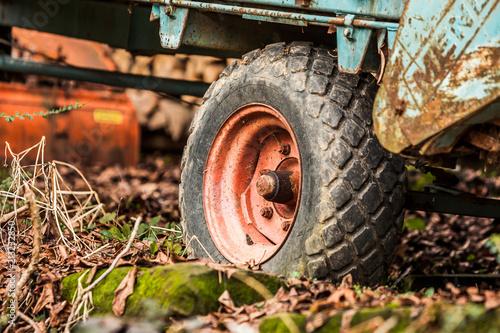 Aluminium Trekker Old Wheel from a Tractor in Rural Germany