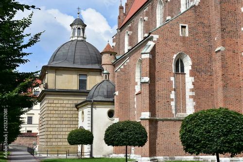 Fotobehang Krakau church of Goods body in Cracow,Poland