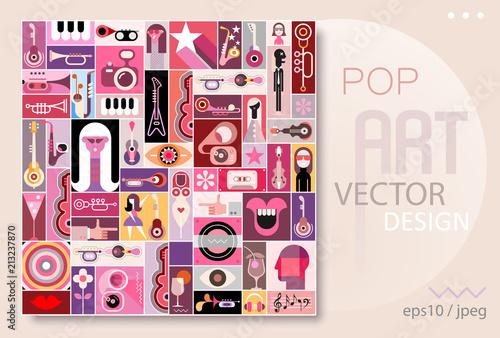 In de dag Abstractie Art Pop Art Design vector illustration