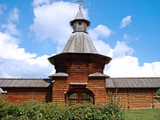 The gate of the ancient Russian monastery of the 16th century. - 213244602