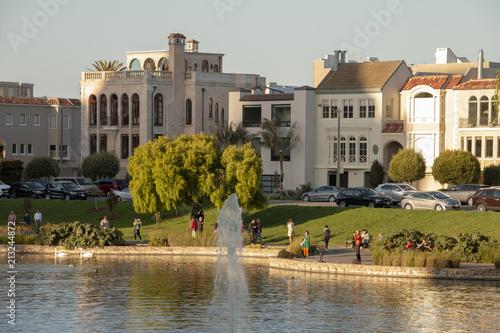 Foto Murales Palace of fine art lake