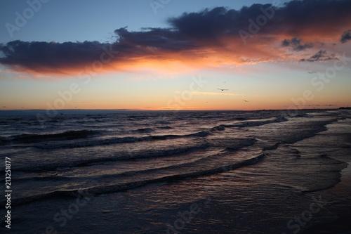 Foto Murales Beautiful red sunset.