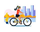 girl on the bike - 213254045
