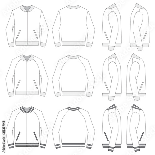Vector Template For Bomber Jackets Buy Photos Ap Images Detailview