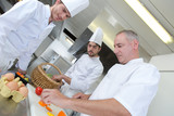 cutting the ingredients - 213267800
