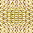 Cloth background with geometric flowers pattern decoration - 213269400