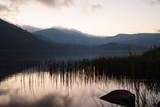 Calm on lake Oia. Krasnoyarsk region, southern Siberia, Sayan mountains, Russia. - 213269647