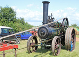 Steam Traction engine driving a circular saw - 213275018