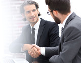 background image .colleagues shaking hands - 213290437