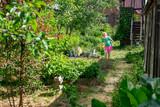 Little girl gardening - 213290834