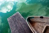 old boat near pier - 213290899