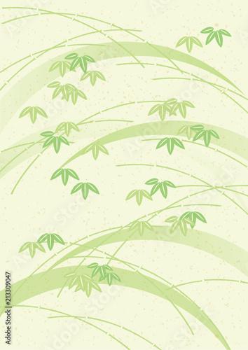 Fototapeta 笹 和紙 黄緑